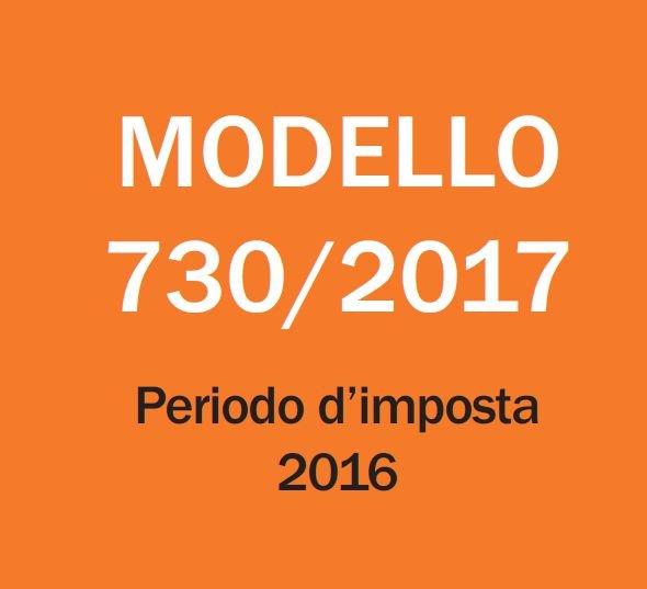 Informativa relativa al modello 730/2017