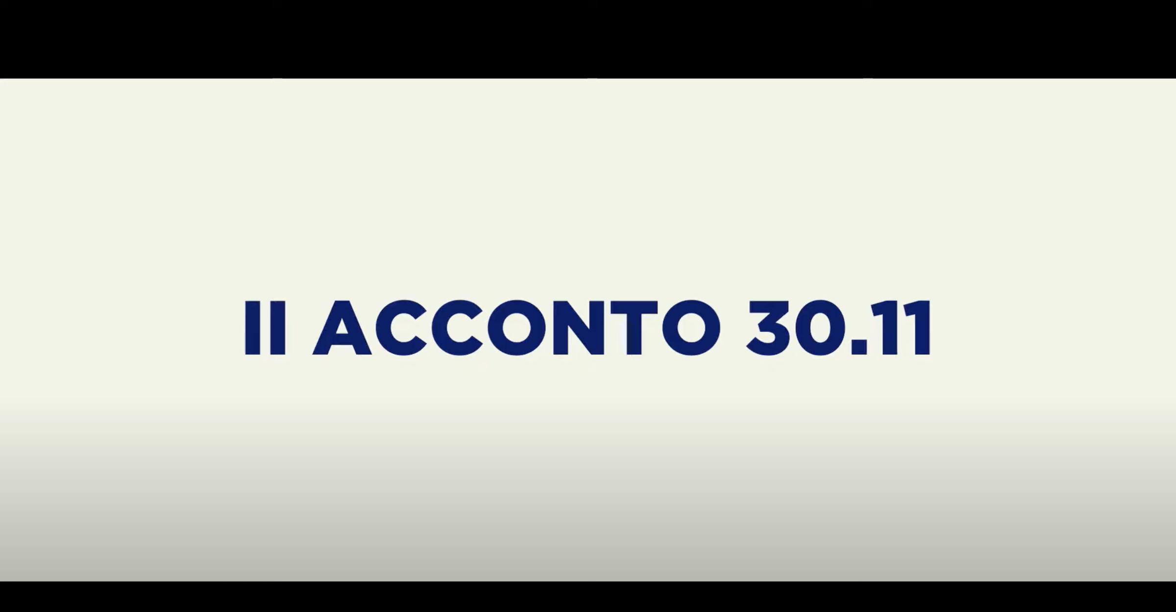 II ACCONTO 30.11
