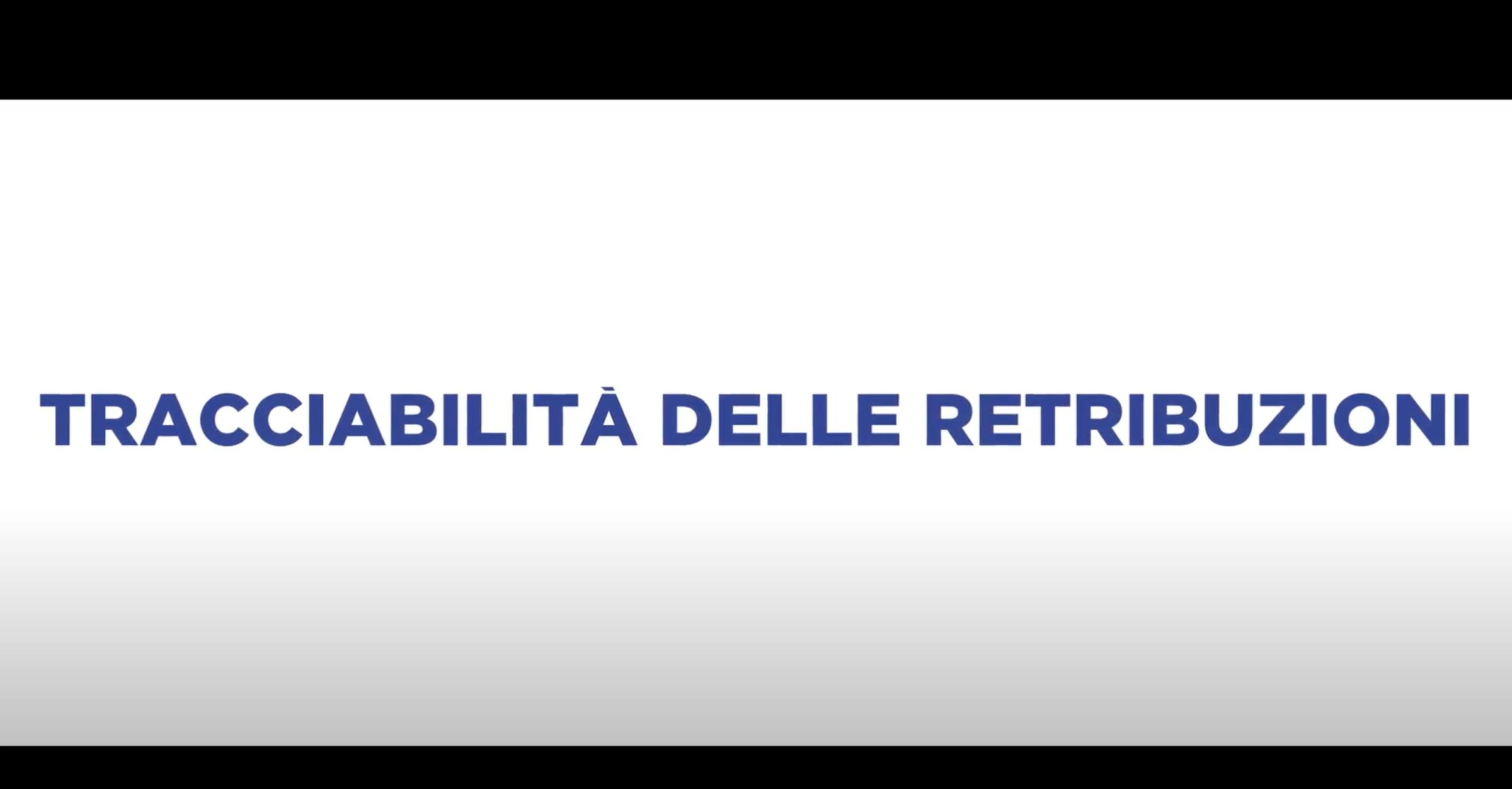 TRACCIABILITA' DELLE RETRIBUZIONI