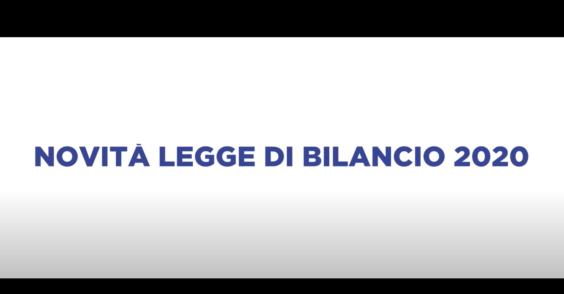 NOVITA' LEGGE DI BILANCIO 2020