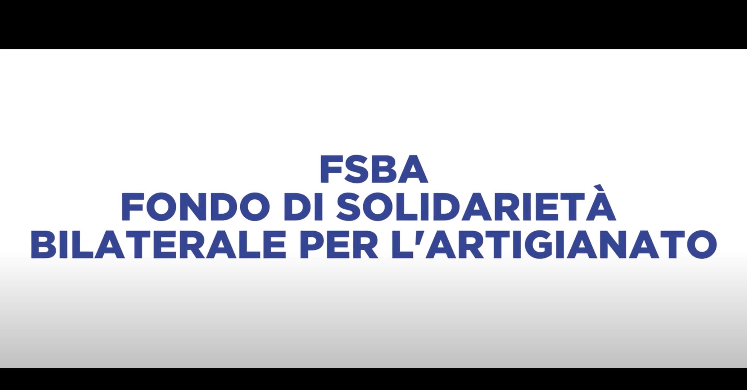 FSBA – FONDO DI SOLIDARIETÀ BILATERALE PER L'ARTIGIANATO