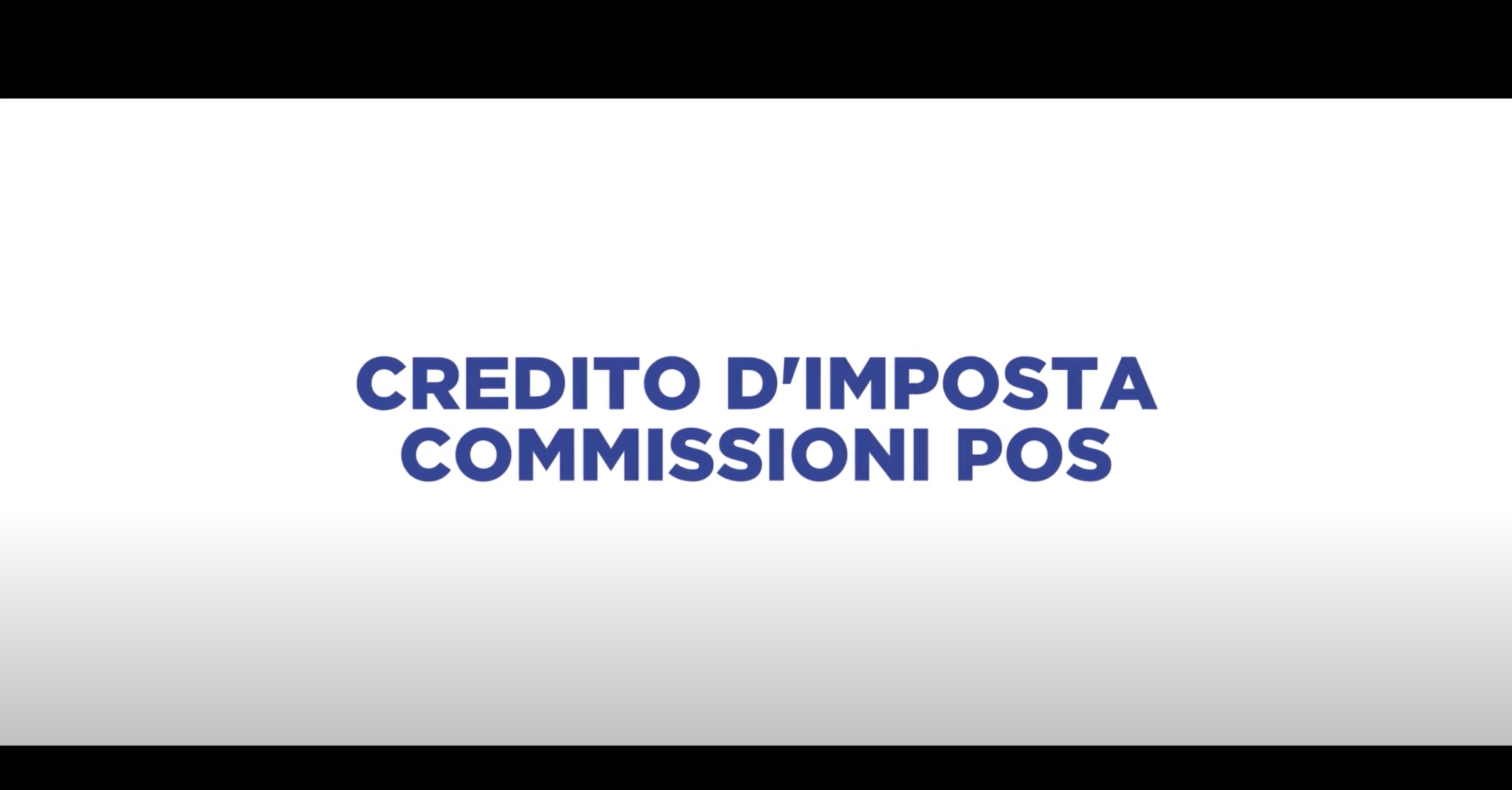 CREDITO D'IMPOSTA COMMISSIONI POS