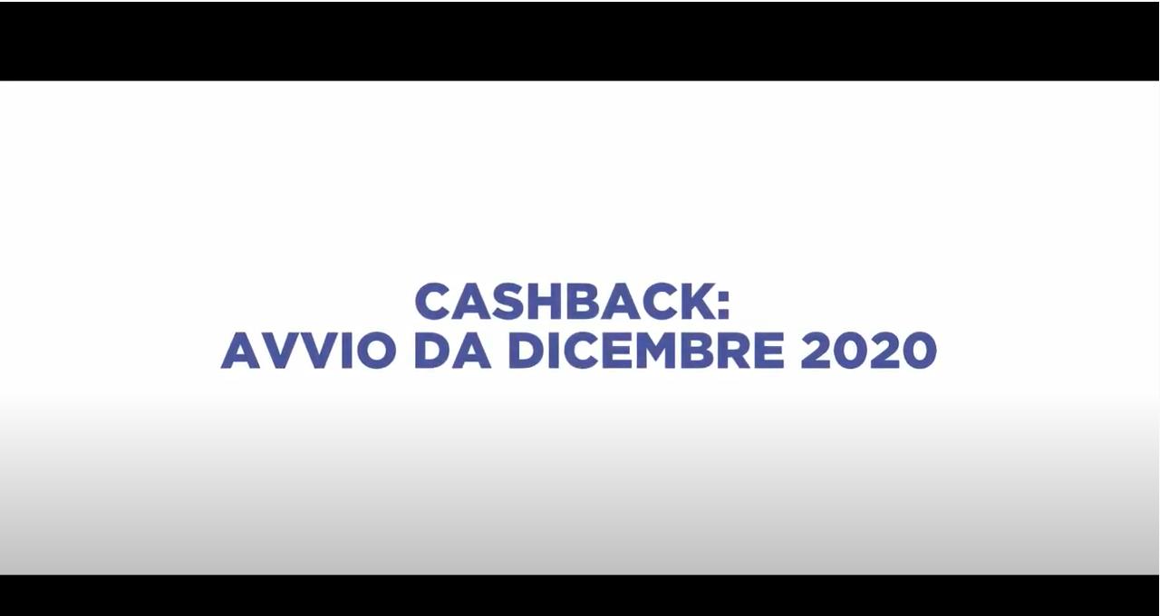 CASHBACK: AVVIO DA DICEMBRE 2020
