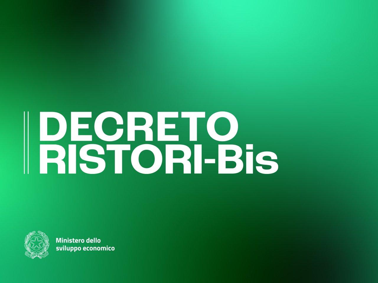 DECRETO RISTORI BIS D.L. 149/2020