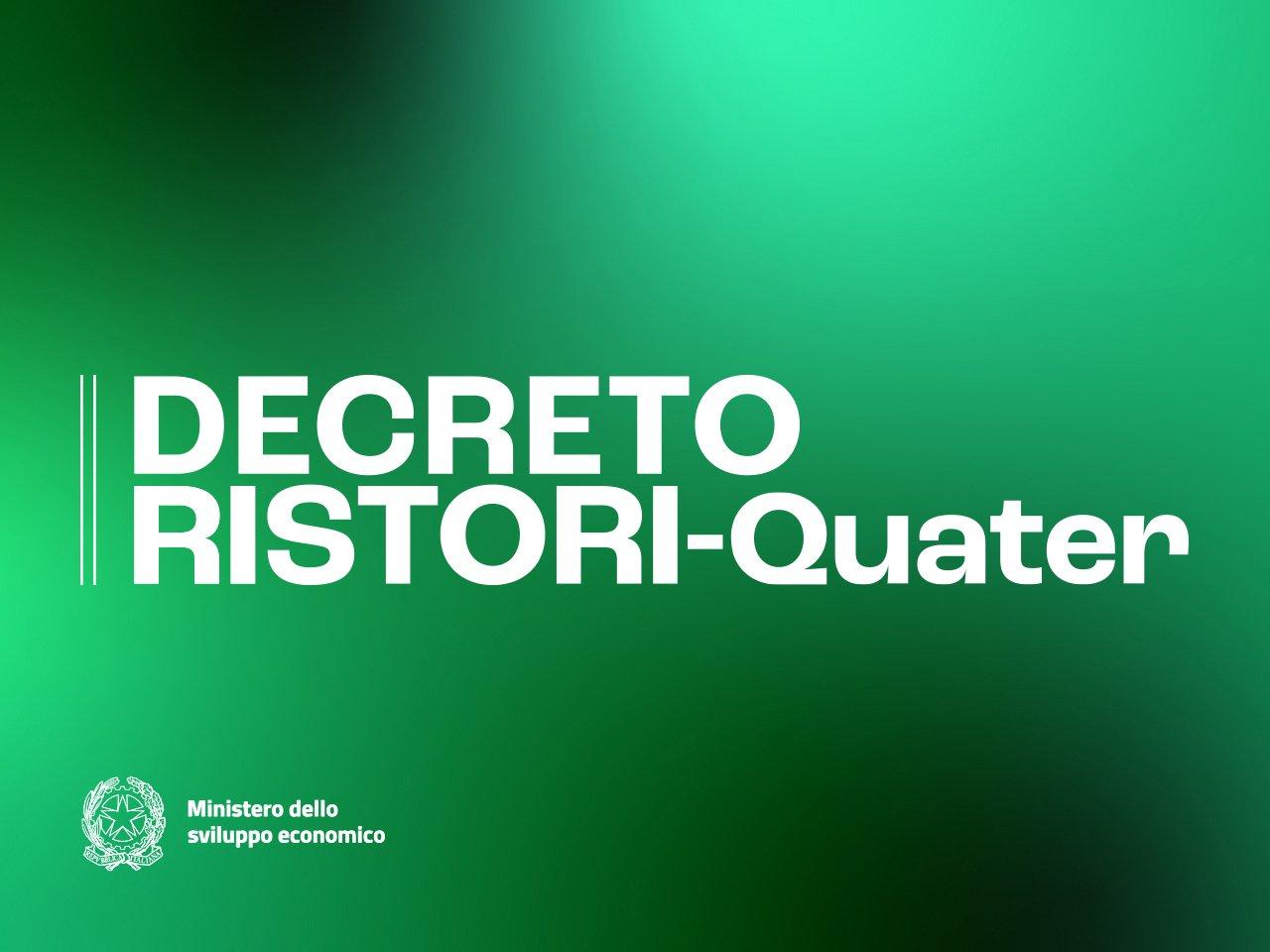 D.L. RISTORI QUATER: ECCO LE NOVITA'