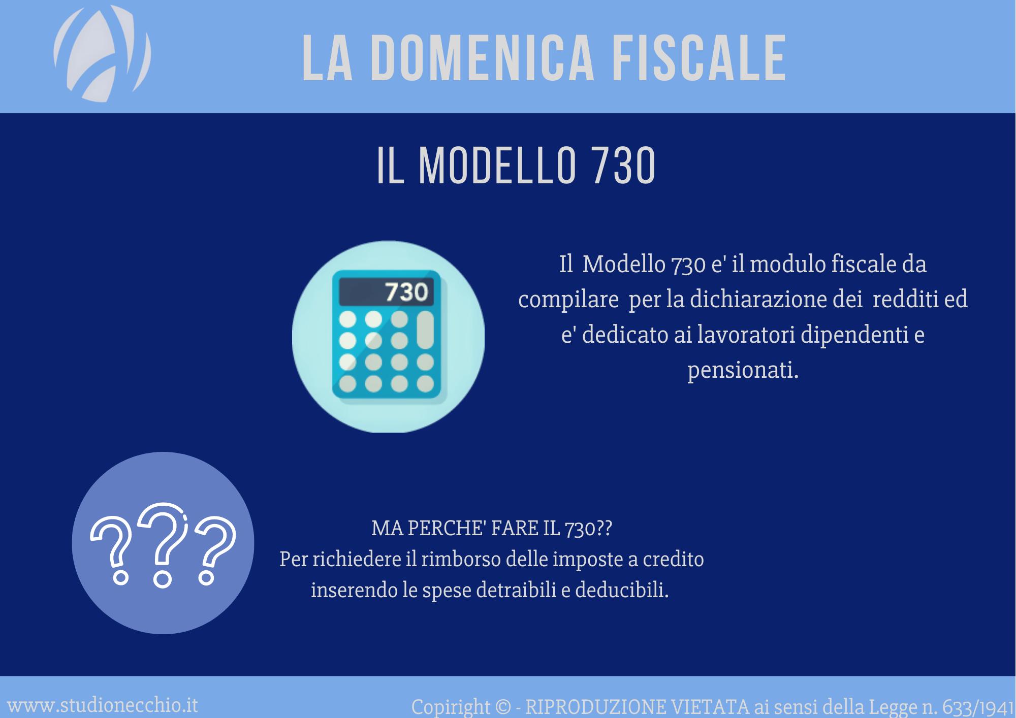 La Domenica Fiscale – Il modello 730