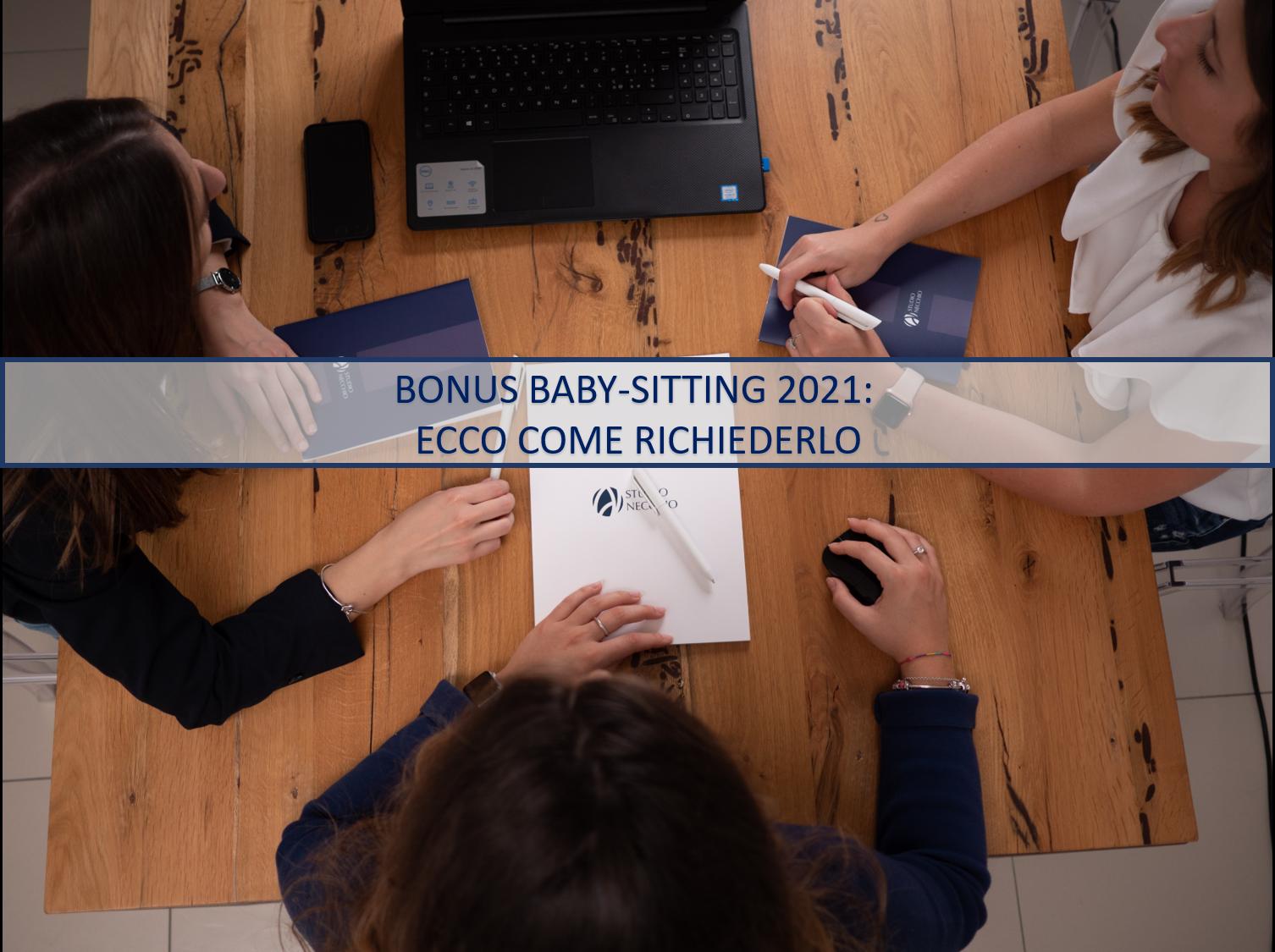 BONUS BABY-SITTING 2021: ECCO COME RICHIEDERLO