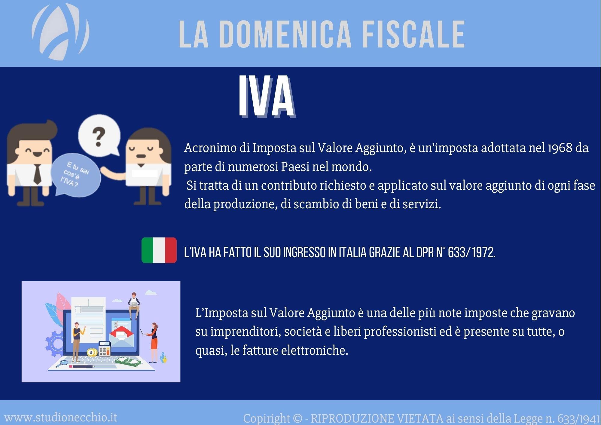 La Domenica Fiscale – IVA: imposta sul valore aggiunto
