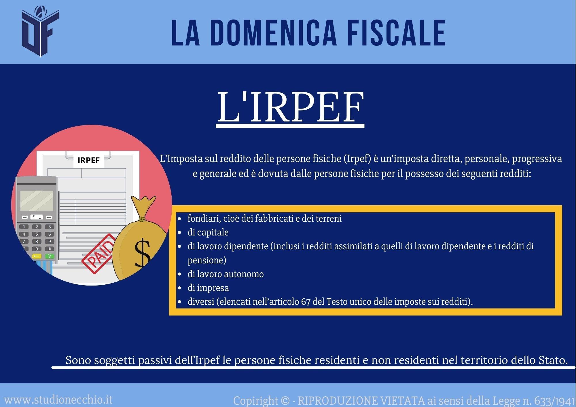 La Domenica Fiscale – L'IRPEF
