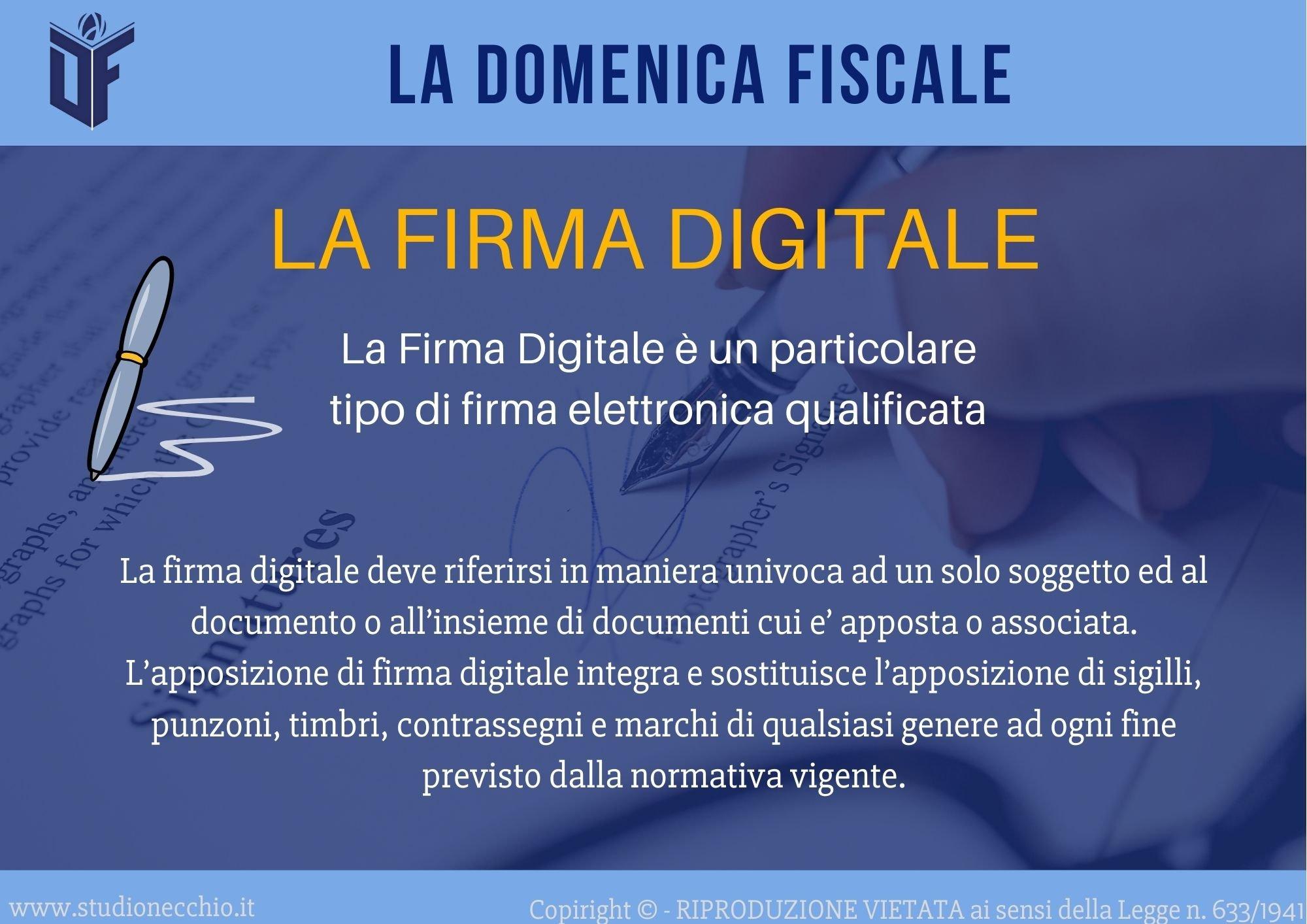 La Domenica Fiscale – La firma digitale