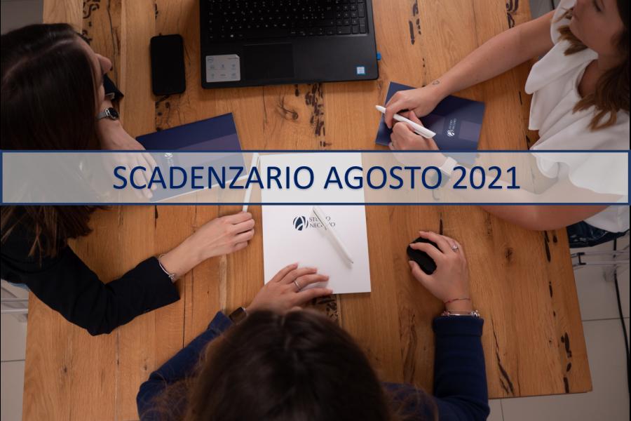 SCADENZARIO AGOSTO 2021