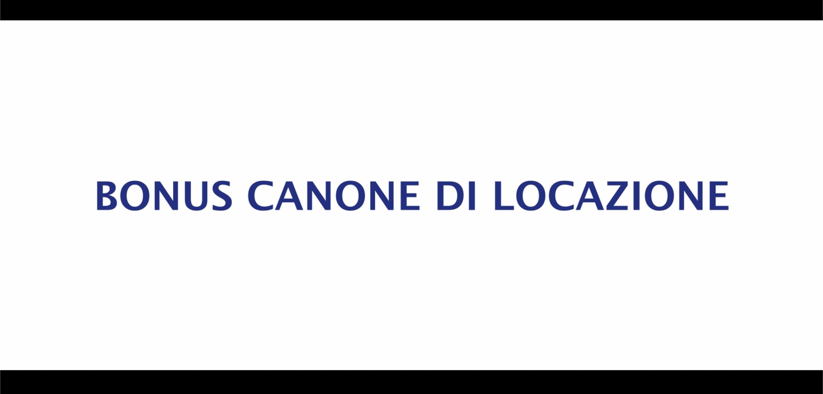 BONUS CANONE DI LOCAZIONE