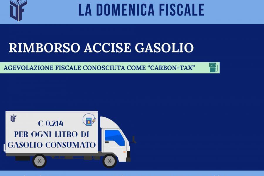 La Domenica Fiscale – RIMBORSO ACCISE GASOLIO