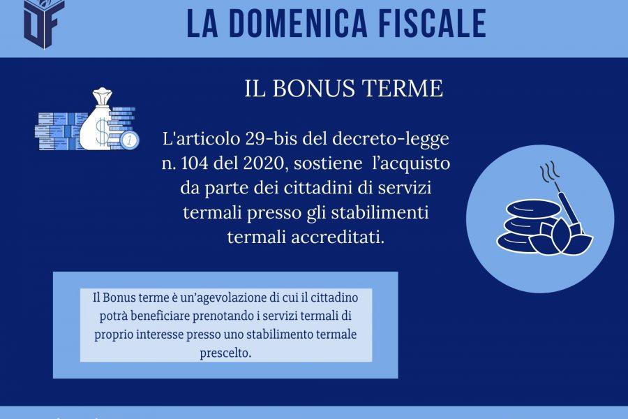 La Domenica Fiscale – BONUS TERME